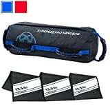Synergee Pro Buff Blue Fitness Sandbag with (3) Filler Bags Adjustable up to 40lbs. Heavy Duty Fitness Weight Bag.