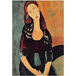 Laminated Amadeo Modigliani Portrait of Jeanne Hebuterne 6 Art Print Poster 13 x 19in