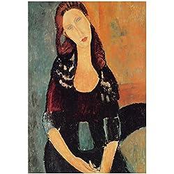 Laminated Amadeo Modigliani Portrait of Jeanne Hebuterne 6 Art Print Poster 13 x 19in
