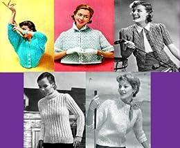 Hermosa Vintage tejer patrones para suéteres de las mujeres (Spanish Edition) by [Unknown