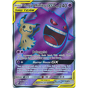 Amazon com: Gengar & Mimikyu GX - 164/181 - Full Art Ultra