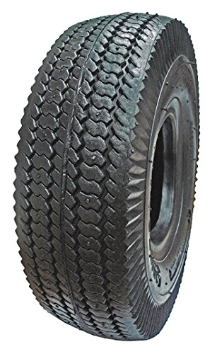 HI-RUN Sawtooth Tread Tire 4.10/3.50-4 4PR, CT1011, Heavy Duty, Wheelbarrow, Small Riding Lawn Mowers, Wagons, All Season Lawn Tractor Wagon
