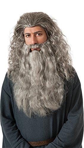 Kit Costumes Gandalf Beard (Mens Halloween Costume- Gandalf Wig & Beard Adult Costume Accessory)