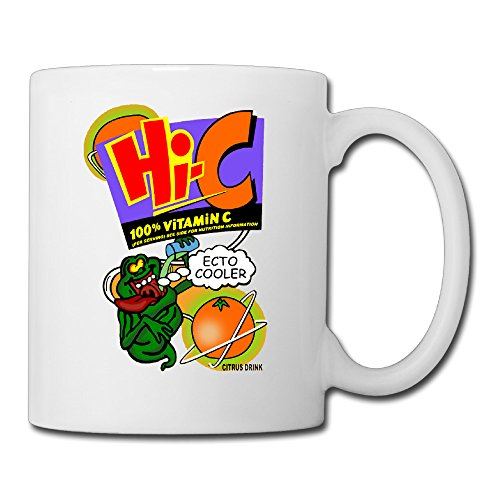 White Ghostbusters Ecto Coole Ceramic Coffee Mug 11oz Unisex