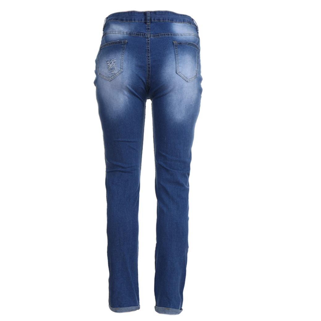 9f3e5a8ba8 Kehen Women Plus Size Ripped Stretch Slim Denim Skinny Jeans Pants High  Waist Trousers (XXL-XXXXXXXL) at Amazon Women s Jeans store