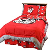 College Covers Georgia Bulldogs Reversible Comforter Set, King