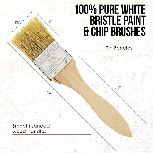 US Art Supply 20 Pack of Assorted Size Paint and Chip Paint Brushes for Paint, Stains, Varnishes, Glues, and Gesso