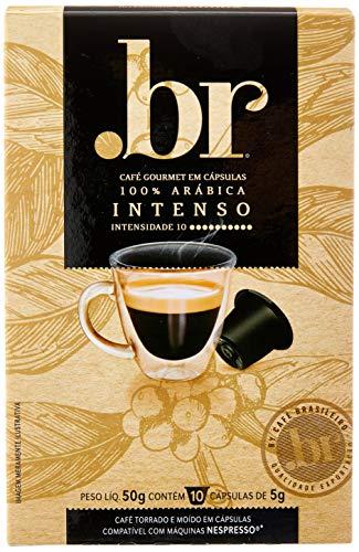 Cápsulas de Café .br Intenso, Compatível com Nespresso, Contém 10 Cápsulas