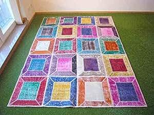 Alfombra en patchwork multi 169x236 cm hogar - Alfombras dormitorio amazon ...