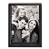 """Adeco Decorative Black Wood Shadow Box-style Picture Photo Frame, Hanging or Table Top, 5x7""""-Style"""