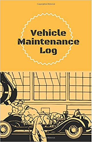 vehicle maintenance log orange cover car service book reminder