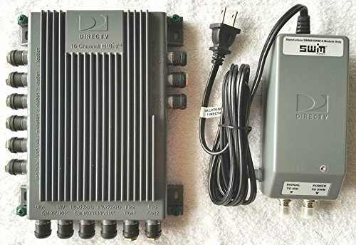 DirecTV SWM16 Single Wire Multi-Switch (16 Channel) (SWM-16) With 29V Power Supply Combo Kit by MN Nice ()