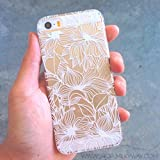 Plastic Case Cover for iPhone 5 5S 5C 6 6Plus (Pick One) Henna Anastasia Flower Abstract Floral Pattern