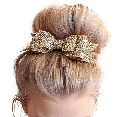 MANDI HOME 1 Pc Women and Girl Sequins Bowknot Hair Clips / Kids Bling Glitter Big Hairpin Headwear Hair Accessories