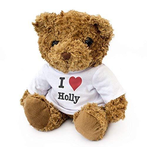 NEW - I LOVE HOLLY - Teddy Bear - Cute And Cuddly - Gift Present Birthday Xmas Valentine