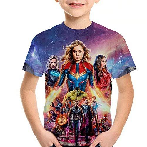 Tsyllyp Carol's Endgame 3D Printed Shirt Children Kids Superhero T-Shirt -