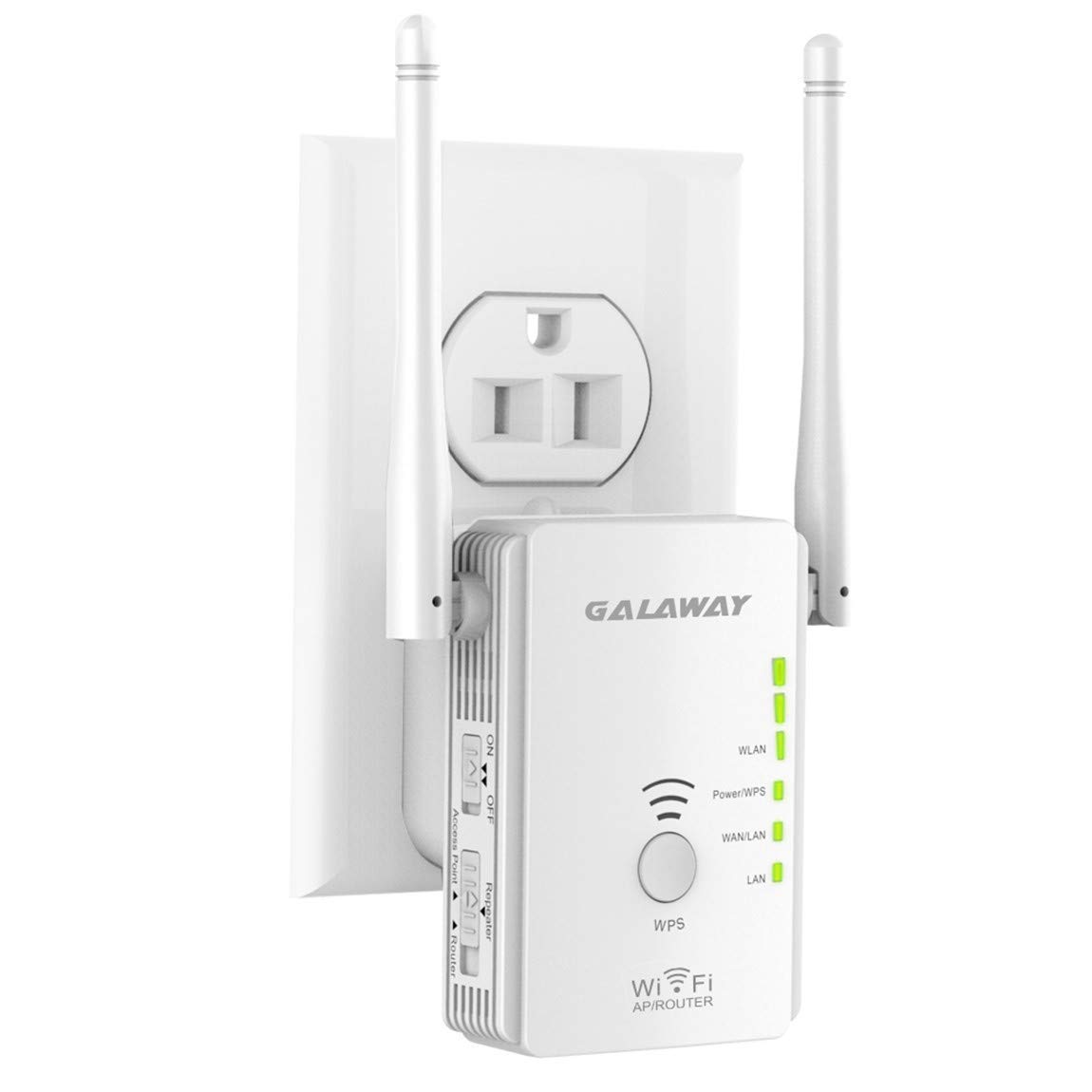 GALAWAY 300Mbps Mini WiFi Range Extender 360 Degree Full Coverage External Antenna Range Extender by GALAWAY-US