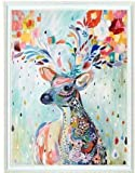 #8: Colorful Deer counted cross stitch, Egyptian cotton thread , 14ct 42x49cm 150x200 Stith counted cross stitch kits
