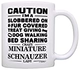 Best ThisWear Wife And Mom Coffee Mugs - Dog Lover Gifts for Women Crazy Miniature Schnauzer Review