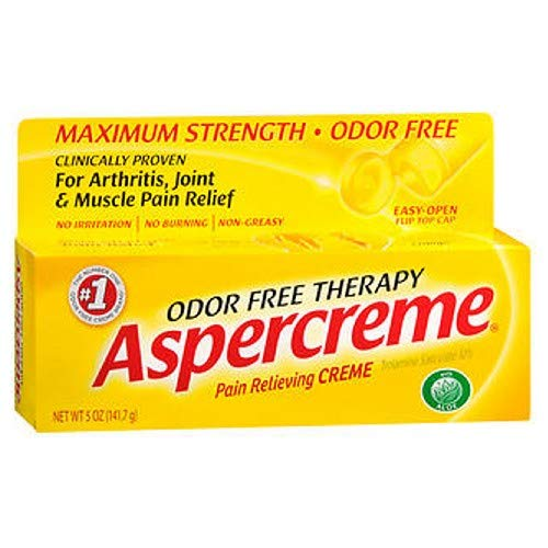 Aspercreme Odor Free Therapy Pain Relieving Creme With Aloe - 5 Oz (Pack of 6)