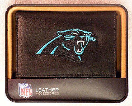 NFL Carolina Panthers Embroidered Genuine Leather Trifold ()