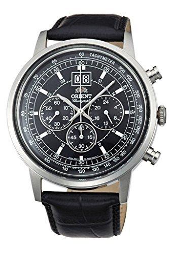 ORIENT BIG-DATE Classic Quartz Chronograph Dress Watch TV02003B (Orient Quartz Chronograph)