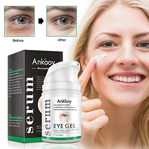 Eye Gel,2019 Eye Cream for Dark Circles and Puffiness,Wrinkles and Fine Lines,Anti-aging Bags,Under Eye Cream Treatment - 1.7 fl oz (Best Under Eye Cream For Mens Dark Circles 2019)