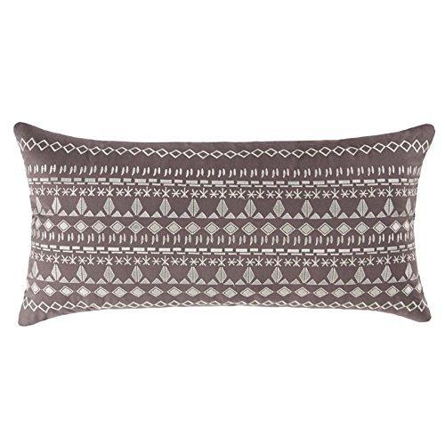 Antik Batik 13'' x 26'' Oblong Embroidered Pillow, 13x26, Margo