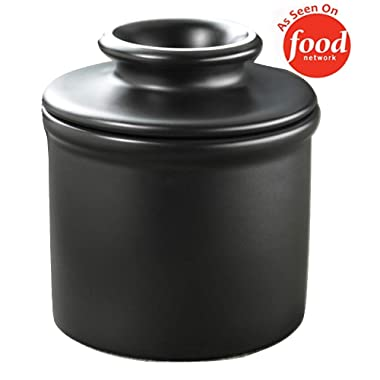 The Original Butter Bell Crock by L. Tremain, Retro & Matte Collection - Classic Ebony