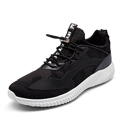Unaltra Estate Unisex Coppia Sportiva Casual Traspirante Sneakers Nere