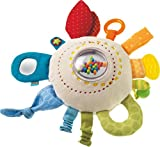 HABA Teether Cuddly Rainbow Round - Soft Activity Toy with...