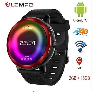 LEMFO LEM8 - Reloj Inteligente Android 7.1.1 4G 2 MP cámara de Reloj teléfono