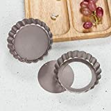 Webake 4 Inch Mini Tart Pan Set of 6, Non-Stick