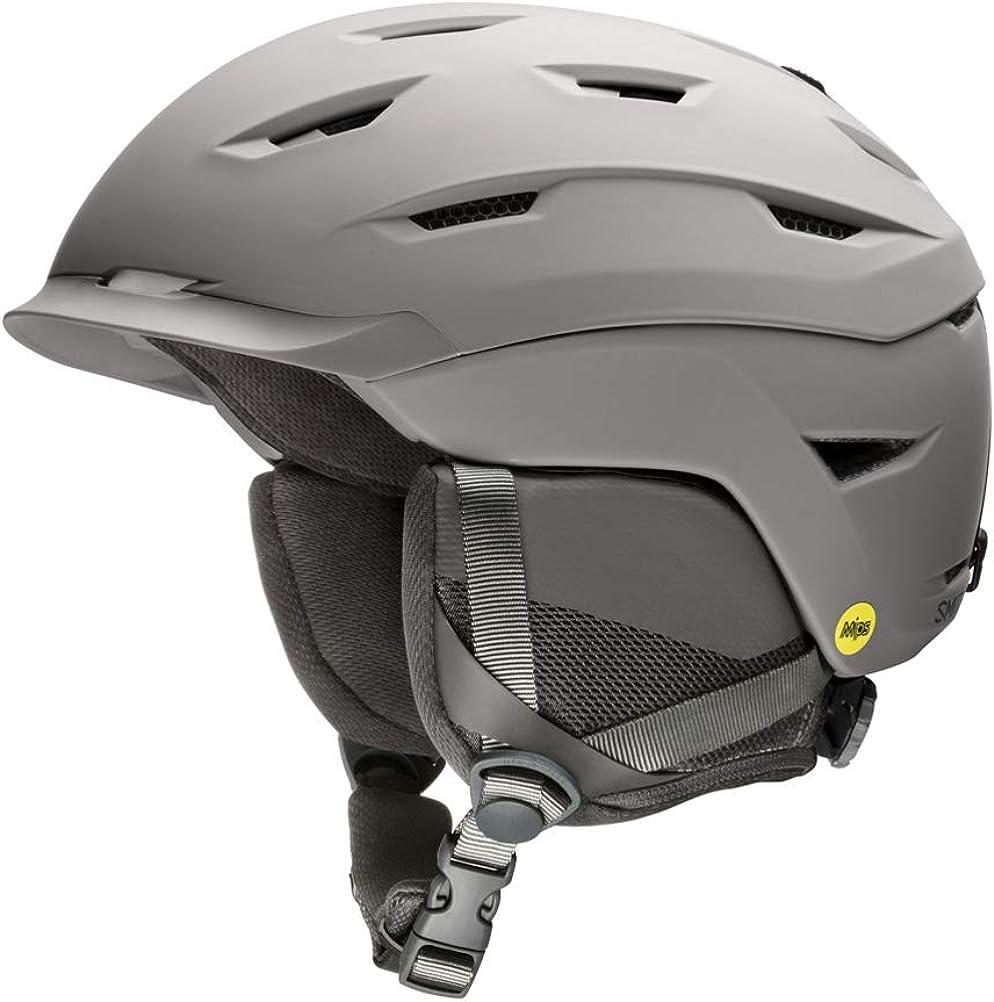 Matte Cloud Grey Smith LEVEL MIPS Snow Helmet Large
