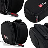 Black Neoprene Lightweight Zip-Locked Carry Case with Accessories Space - Compatible with Sony Cybershot HX60 - by DURAGADGET