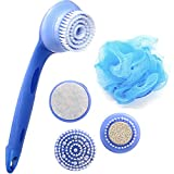 Image of REFAGO 5-in-1 Spa Spin Brush Waterproof Electric Facial and Body Cleansing Brush with Detachable Handle