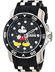 Invicta Mens Disney Limited Edition Quartz Stainless Steel and Silicone Casual Watch, Color:Two Tone (Model...