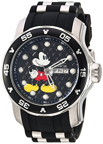 (Invicta Men's Disney Limited Edition Stainless Steel Quartz Watch with Silicone Strap, Two Tone, 26 (Model: 23763))