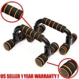 BigChest Perfect Push Up Bars Inclined – Pushup Stands Handles Fitness Equipment for Push-Up Exercise Home Workout Push Up Bars Stand Handle Fat Burning & Full Body Training for Chest & Arms Tool