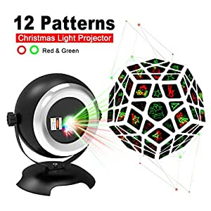 Christmas Laser Lights,Outdoor Projector Lights by Homitem,Snowmen/Snowflake/Xmas Tree/Santa Claus with Remote Control for Xmas,Birthday Decoration(1-Pack)