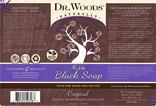 Dr. Woods Raw African Black Liquid Soap with Organic Shea Butter 2 Ultra moisturizing cleanser All natural and eco-friendly Helps clear skin blemishes