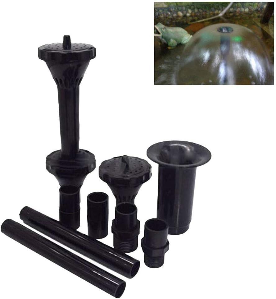 Yardwe 9pcs petit kit buse fontaine t/êtes de buse fontaine pour bassin fontaine bassin pompe submersible piscine