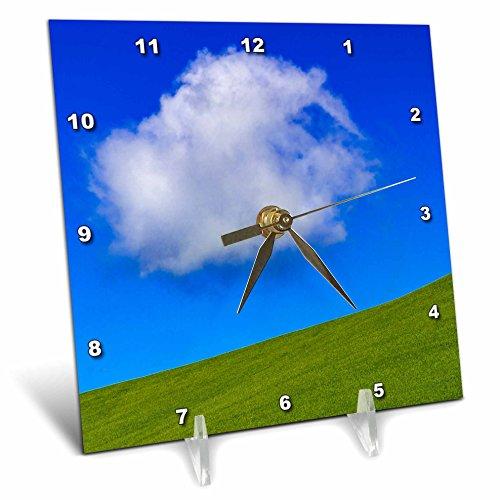 Washington State Desk Clock - 3dRose Danita Delimont - Weather - USA, Washington State. Palouse, cloud - 6x6 Desk Clock (dc_279704_1)