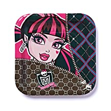American Greetings Monster High 7 Square Plates (8-Pack), Party Supplies