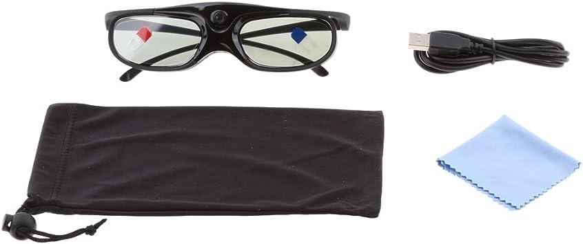 Sharplace Gafas 3D para Proyectores DLP-Link Obturador Activo Acer ...