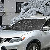 #3: Snow Windshield Cover, Topist Premium Universal Magnetic Car Windshield Screen Frost Ice Protector, Multipurpose Ice Snow Sun Dust Frost Guard and Windproof in All Weather Fit for Cars, CRVs and SUVs