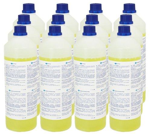 Teppich-Shampoo (12 x 1L Flasche) für alle Waschsauger - sehr ergiebig! Mischverhältnis 1:200 (statt üblichen 1:3)