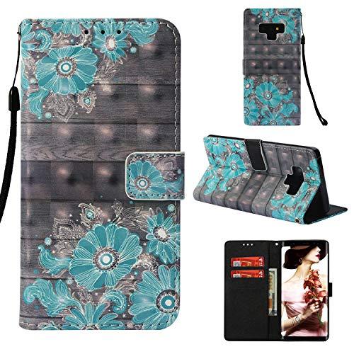 Galaxy Note 9 Case, UZER 3D Series Premium PU Leather Shockp