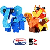 weofferwhatyouwant Educational Building Brick Elephant and Squirrel - 3D STEM Uses 564 FLATBLOCKS Pieces. Creates Different Designs for Children and Adults