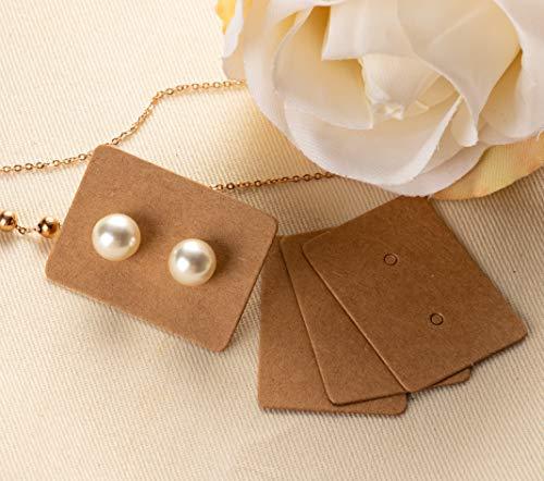 Blank Earring Jewelry Display Cards for Ear Studs Earring Cards 1.375x 1 Inches White 500-Pack Earring Card Holder Earrings